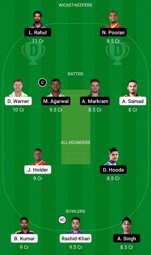 IPL 2021- SRH vs PBKS Dream11 Prediction, Fantasy Cricket Tips, Dream11 Team