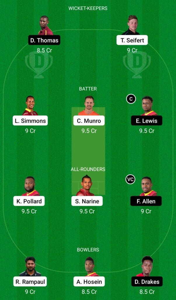 CPL 2021- TKR vs SKN Dream11 Prediction, Fantasy Cricket Tips, Dream11 Team
