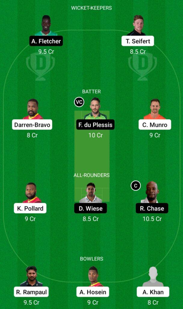 CPL 2021- TKR vs SLK Dream11 Prediction, Fantasy Cricket Tips, Dream11 Team