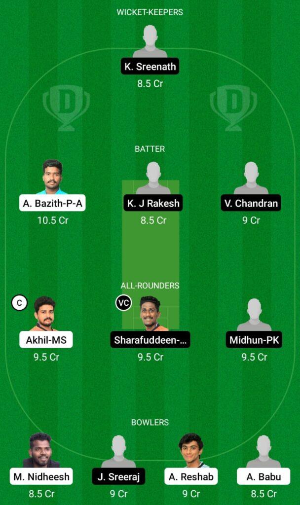 TRC vs PRC Dream11 Prediction, Fantasy Cricket Tips, Dream11 Team, Kerala Club Championship 2021