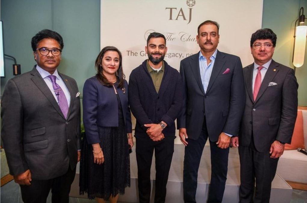 Ravi Shastri and Virat Kohli during Shastri's book launch event in London | Twitter