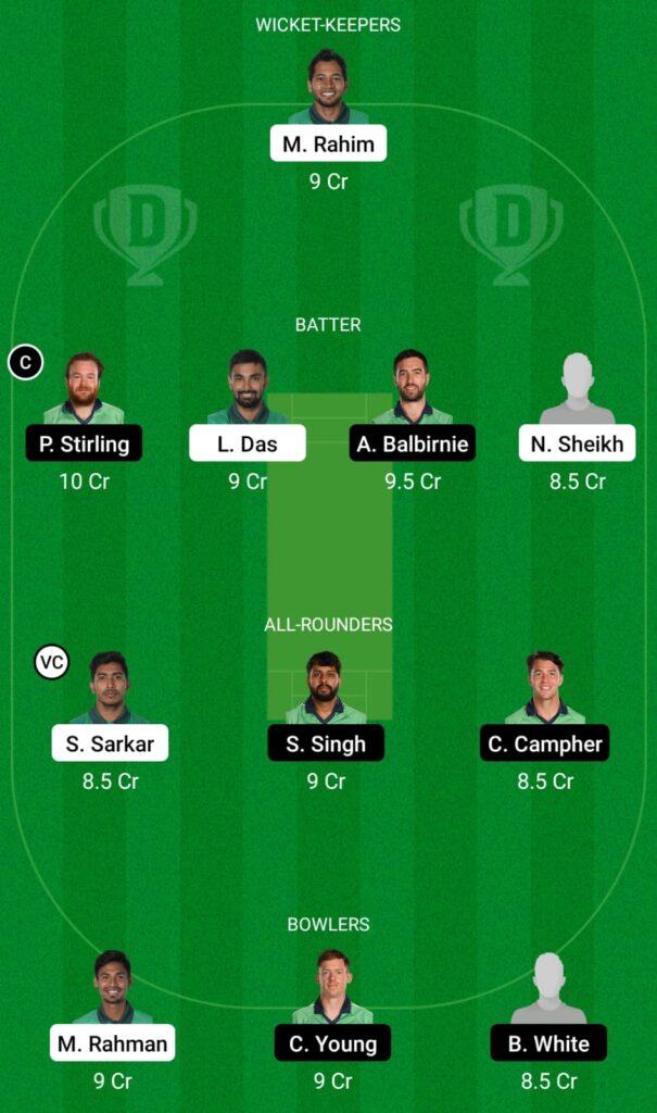 BAN vs IRE Dream11 Prediction, Fantasy Cricket Tips, Dream 11 Team, ICC Men's T20 World Cup Warm-up Matches, 2021