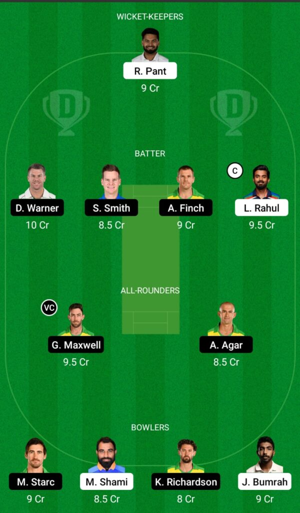IND vs AUS Dream11 Prediction, Fantasy Cricket Tips, Dream 11 Team, ICC Men's T20 World Cup Warm-up Matches, 2021