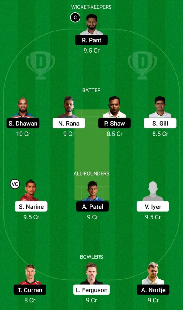 IPL 2021- KKR vs DC Dream11 Prediction, Fantasy Cricket Tips, Dream11 Team