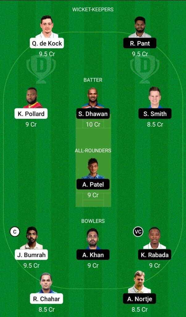 IPL 2021- MI vs DC Dream11 Prediction, Fantasy Cricket Tips, Dream11 Team