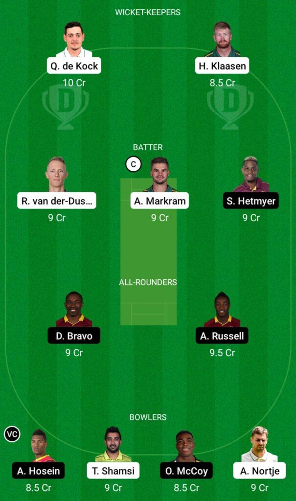 SA vs WI Dream11 Prediction, Fantasy Cricket Tips, Dream11 Team, ICC T20 World Cup, 2021