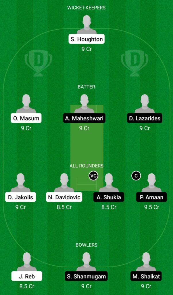 SOS vs ZAS Dream11 Prediction, Fantasy Cricket Tips, Dream11 Team, ECS T10 Croatia 2021
