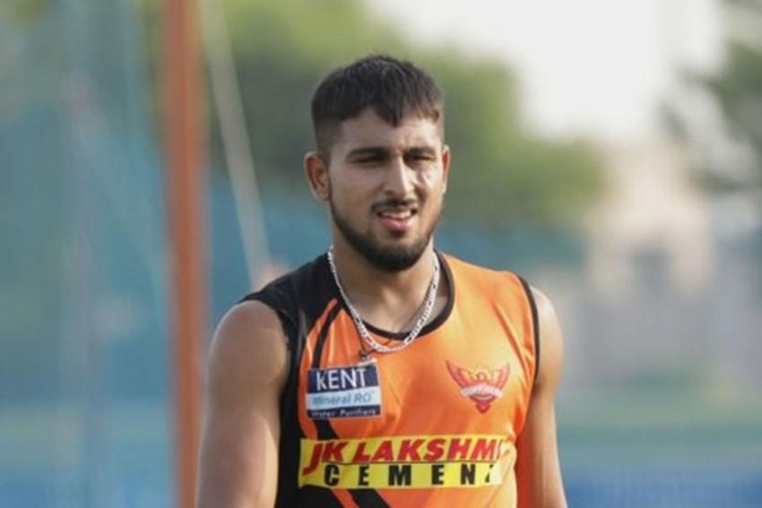 Umran Malik is already part of the Sunrisers Hyderabad set up as a net bowler. | Courtesy: Twitter (@SunRisers)
