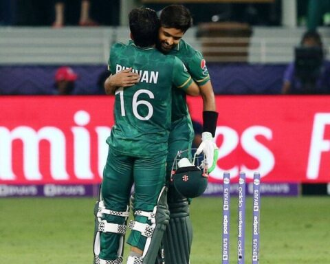 Babar Azam and Mohammad Rizwan steered Pakistan to a 10-wicket victory against India (PTI).